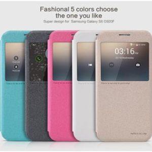Nillkin View Sparkle pouzdro Samsung S6 Black