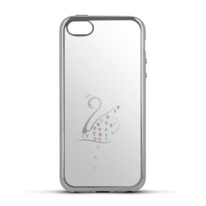Beeyo Stardust Swan kryt Apple iPhone 6/6S Silver
