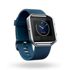Fitbit Blaze Blue Silver  Large
