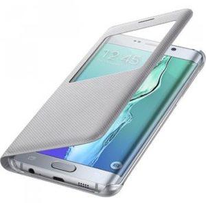 Pouzdro  S-View Silver Samsung Galaxy S6 Edge Plus