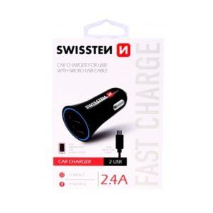 SWISSTEN CL AUTONABÍJEČKA 2xUSB 2,4A + kabel Micro / USB