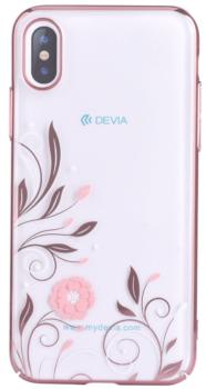 Devia Swarovski Petunia kryt iPhone X rose gold