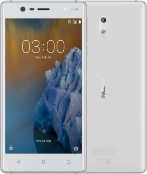 Mobilní telefon Nokia 3 bílá/stříbrná