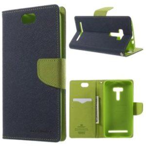 Goospery Fancy Diary Case kniha pro Asus ZenFone 2 Laser ZE500KL zelený