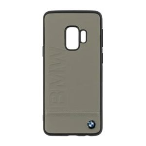 BMW Signature Real Leather Hard Case Taupe pro Samsung G960 Galaxy S9