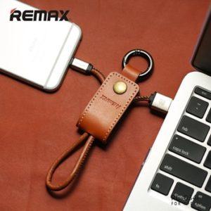 Remax Western Kožený microUSB Datový Kabel Brown