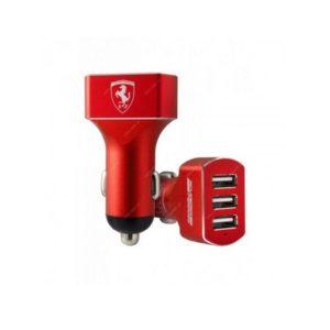 autonabíječka Ferrari 3x USB Metal Black (Blister)