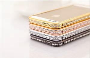 Bumper s kamínky Gold iPhone 6/6s