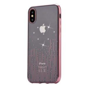 DEVIA kryt Meteor iPhone X rose gold