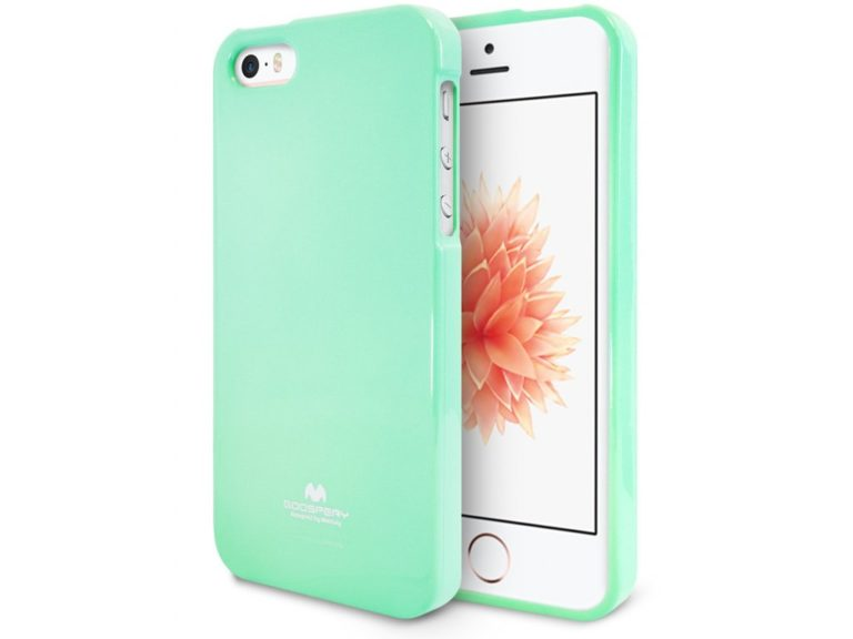 Jelly Case-kryt Apple iPhone 5 5S SE – mint – Smart-mobil c0237f1671c