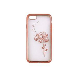 Beeyo Roses TPU kryt Huawei Y6 2017/Y5 2017 rose gold