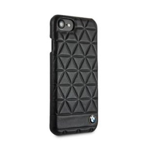 BMW Hexagon Leather Hard Case Black pro iPhone 7/8