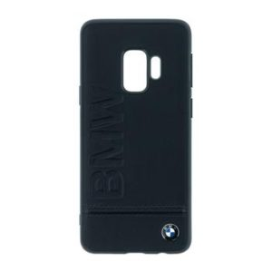 BMW Signature Real Leather Hard Case Black pro Samsung G965 Galaxy S9 Plus