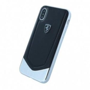 Ferrari Heritage Aluminium Hard Case Black pro iPhone X