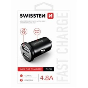 SWISSTEN CL ADAPTÉR 2x USB 4,8A METAL