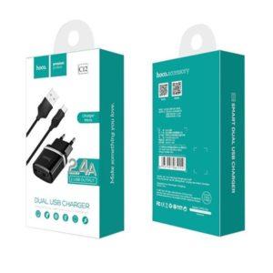 HOCO C12 Nabíječka do sítě micro USB Dual 2.4A černá