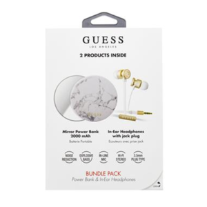 Guess Bundle In-Ear Headphones + PowerBank 2000mAh
