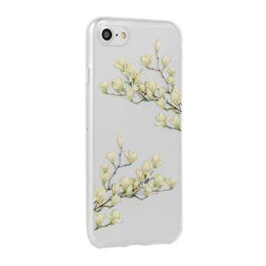 Floral Silicone kryt Samsung A530 Galaxy A8 2018 Magnolia