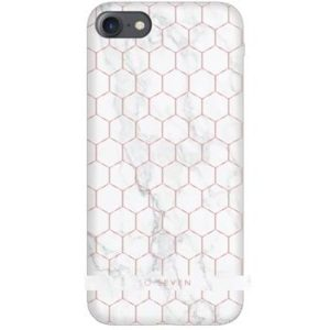 SoSeven Milan Case HoneyComb Marble White Kryt pro iPhone 6/6S/7/8