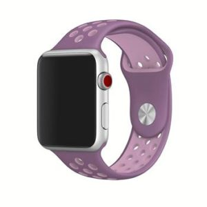Náhradní Handodo silikonový  pásek pro chytré hodinky iWatch 1/2/3 38mm Purple/Pink