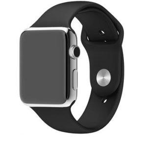 Náhradní Handodo silikonový pásek pro chytré hodinky iWatch 1/2/3 42mm Black