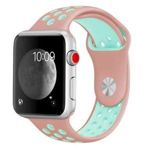 Handodo Double Silikonový Pásek pro chytré hodinky Amazfit Bip Pink