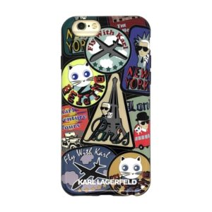 KLHCP6TRCP Karl Lagerfeld TPU Pouzdro Around The World Paris pro iPhone 6/6S