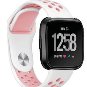 Handodo Double Silikonový Pásek pro Amazfit Pace White/Pink