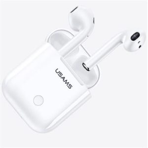 USAMS LC Dual Stereo TWS Wireless Headset vs 5.0 White