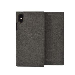 SoSeven Premium Gentleman Book Case Fabric Anthracite pro iPhone X/XS