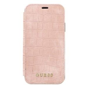 GUFLBKI61SCSRO Guess Crocodile pouzdro iPhone XR Light Pink