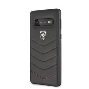 FEHQUHCS10BK Ferrari Heritage Quilted Samsung Galaxy S10 Black