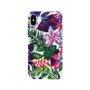 Kryt iPhone 7/8 Smooth Flower Purple/green