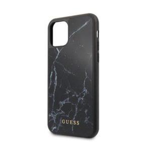 GUHCN58HYMABK Guess Marble Zadní Kryt pro iPhone 11 Black