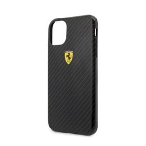 FESPCHCN61CBBK Ferrari Printed Carbon Kryt pro iPhone 11 Black