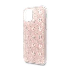 GUHCN58TPERG Guess 4G Peony Glitter Zadní Kryt pro iPhone 11 Pro Pink