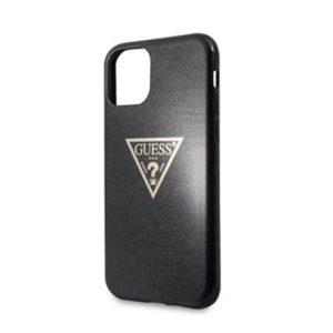 GUHCN58SGTLBK Guess Solid Glitter Zadní Kryt pro iPhone 11 Pro Black