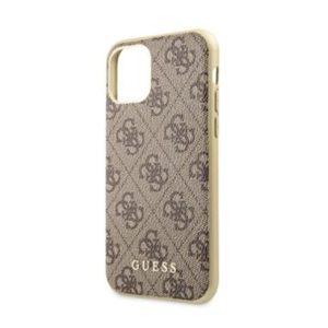 GUHCN65G4GB Guess 4G Zadní kryt iPhone 11 Pro Max Brown