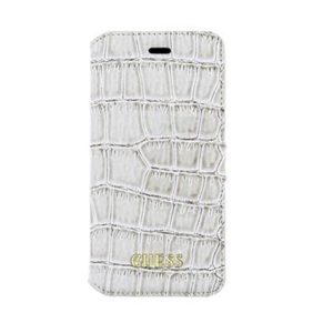 GUFLBKP6SCOBE Guess Shiny Croco Book Pouzdro Beige iPhone 6/6S