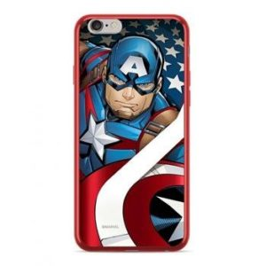 MARVEL Captain America 004 TPU zadní kryt iPhone 6/6S Red