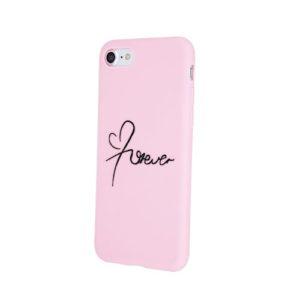 TPU kryt  Samsung A40 Forever Růžový