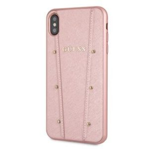 Zadní kryt Guess GUHCI65KAILRG Guess Kaia iPhone XS Max Rose Gold