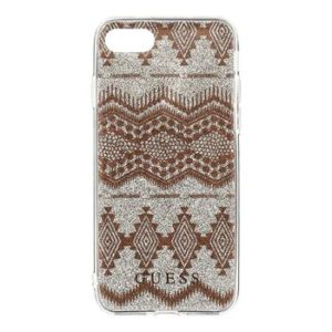 Pouzdro GUHCP7TGTA Guess Ethnic Chic Tribal 3D TPU Taupe iPhone 7/8