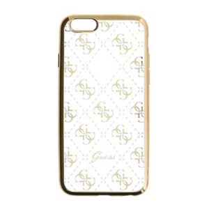 Pouzdro GUHCPSETR4GG Guess 4G TPU Gold iPhone 5/5S/SE