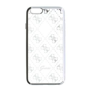 GUHCPSETR4GSI Guess 4G TPU zadní kryt Silver iPhone 5/5S/SE