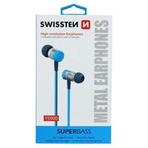 Sluchátka  SWISSTEN EARBUDS SUPERBASS YS900 modré