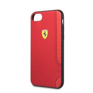 FESITHCI8RE Ferrari On Track Rubber Soft Kryt iPhone 7/8/SE2020 Red