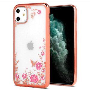Diamont Flower TPU iPhone 11 rose gold