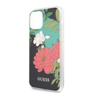 GUHCN61IMLFL01 Guess Flower Shiny N.1 Zadní Kryt pro iPhone 11 Black
