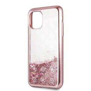 GUHCN58PEOLGP Guess 4G Peony Glitter Zadní Kryt pro iPhone 11 Pro Rose